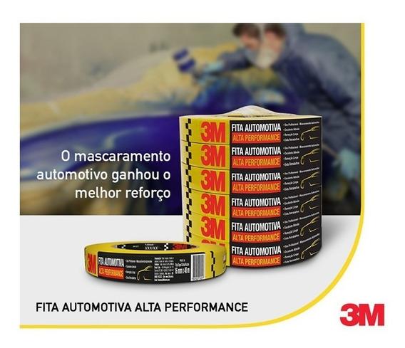 Fita Crepe Automotiva Alta Performance 24mm X 40m 3m Amarela