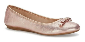 Flat Ballerina Mujer Rosa Con Moño 2586465 Andrea