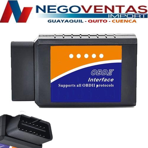 Imagen 1 de 1 de Escaner Automotriz Obd2 Multimarcas Elm327 Bluetooth