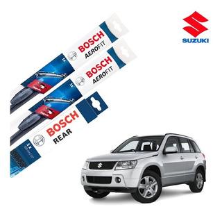 Palhetas Limpador Parabrisa Suzuki Grand Vitara 2009 A 2016 Dianteiro E Traseiro Original Bosch