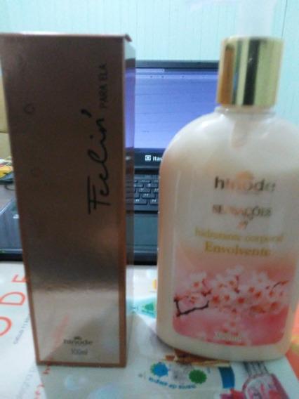 Kit Perfume Feelin + Hidratante Corporal 300ml Envolvente