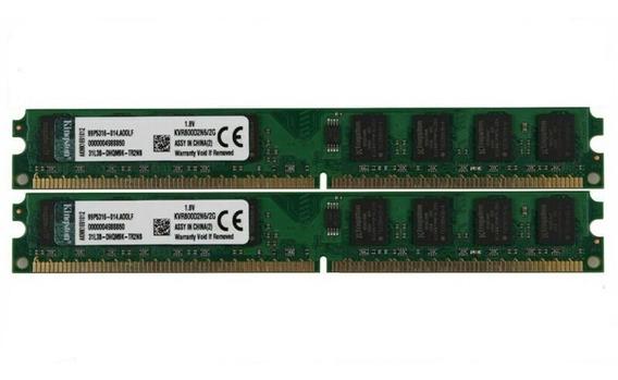 Memória Ram Kingston Ddr2 4gb 2x2gb Pc2-6400u 800mhz