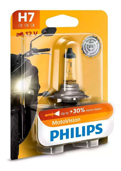 Lâmpada Philips H7 55w Motovision Moto Vision City Camaleao