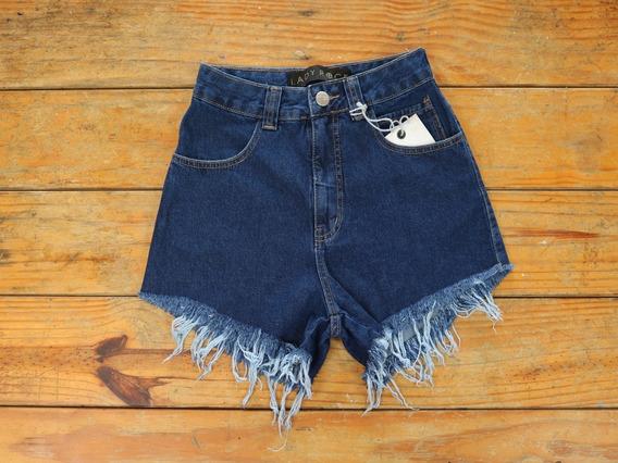 Short De Cós Alto Short Jeans Destroyed Short Lady Rock