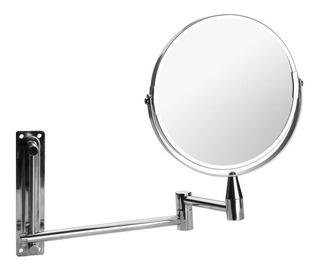 Espejo De Baño Metálico Extensible Cromado Dos Caras 15 Cm Ahora 12 Y 18