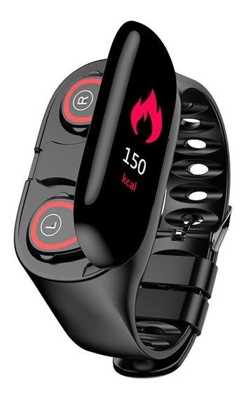 N1 Auricular Inteligente Reloj 2 En 1 Pulsera Bluetooth