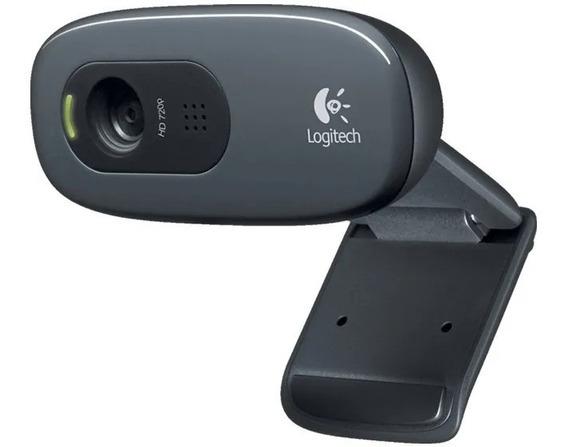 Câmera Webcam Hd Logitech C270