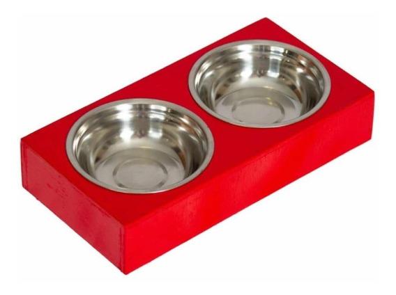 Comedouro Com Potes De Alumínio - Dog House