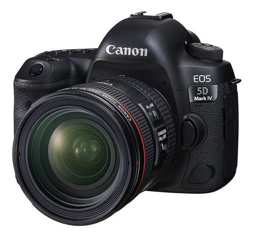 Canon EOS 5D Mark IV 24-70mm IS USM Kit DSLR cor preto