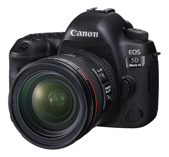 Canon EOS 5D Mark IV 24-70mm IS USM Kit DSLR cor preto