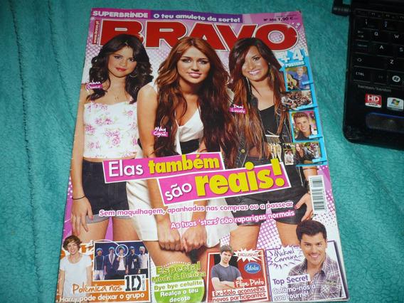 Revista Bravo Portugal Selena Gomez Miley Cyrus Demi Lovato