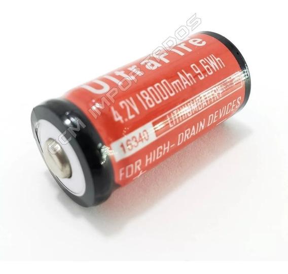 Carregador Duplo + 4 Baterias Cr123a 16340 Ultrafire