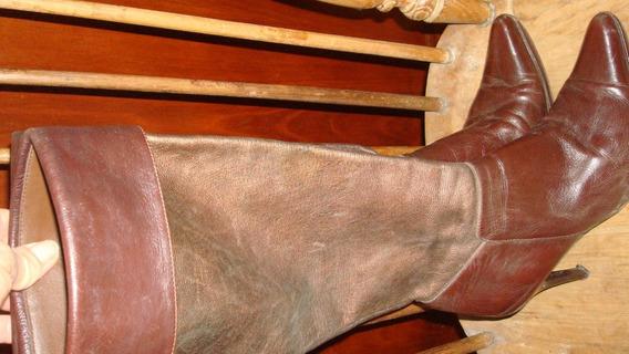 Botas De Cuero Caña Larga. N39