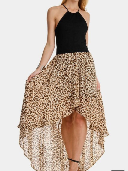 Vestido Guess Largo Animal Prints Talla L