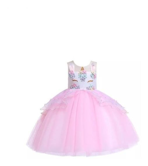 Vestido Para Niña De Fiesta Unicornio Infantil Oferta!