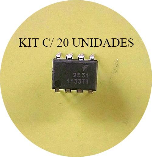 Hcpl2531 (20 Unidades) Optoacoplador Hcpl2531 A2531 Dip-8