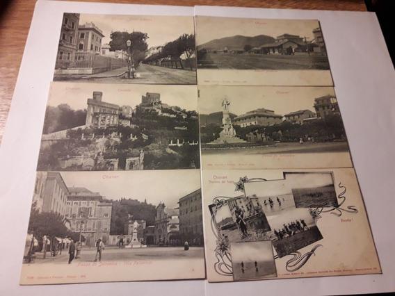 Antiguas Cartas Postales Chiavari 6 En Total Año 1902