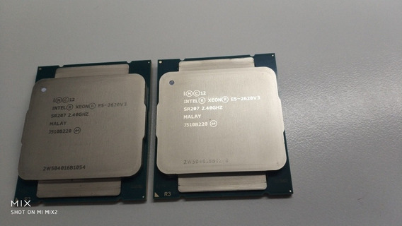 Par Processsdores Xeon E5-2620 V3 Six Core 2.4ghz 3.2ghz