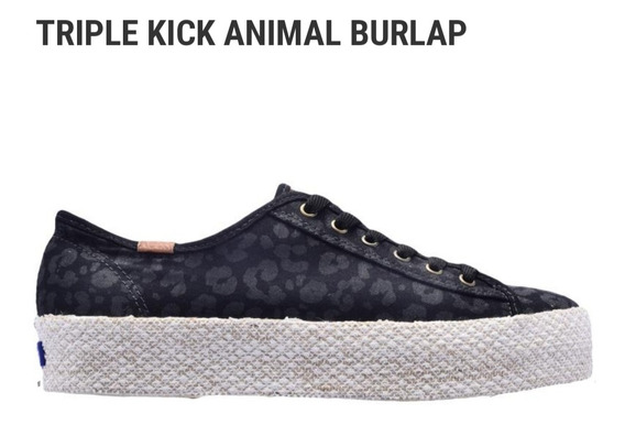 Zapatillas Triple Kick Animal Burlap, Keds