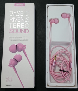 Auriculares Remax 501 Base D Rivens Stereo Rosa Jack 3.5