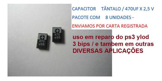 Capacitor Tântalo/ 470uf X 2,5v-envio Por Carta Registrada