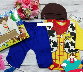 Set Conjunt Bebe Monster Inc Mike Disfraz Body Pantalo Gorro