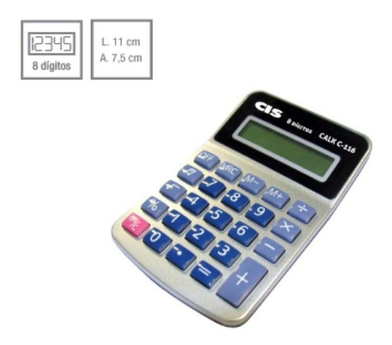 Calculadora De Mesa Calk Cis C - 116 8 Digitos