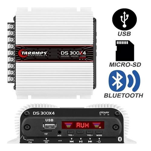 Módulo Automotivo Taramps Ds300x4 300 + Radio Usb Integrado