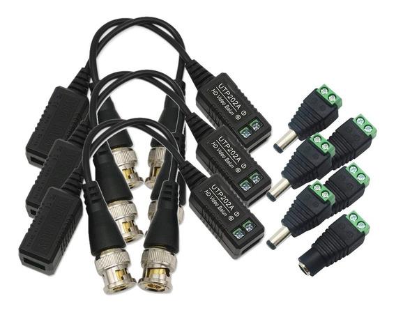 3 Par Balum Video 4mpx 5mpx Transceptor Balun Plugs Energia