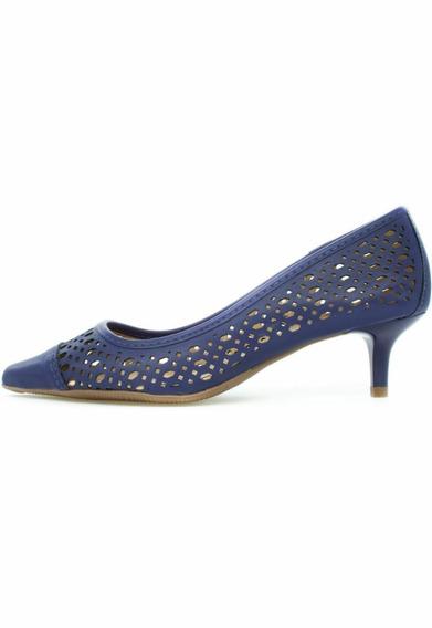 Sapato Scarpin Feminino Recorte Laser