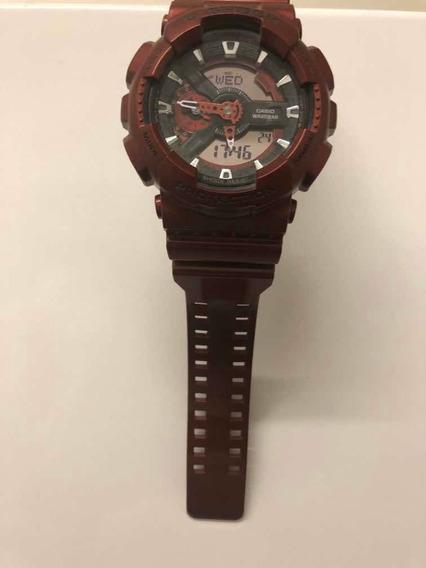 Relógio Casio G-shock Vinho Brilhante Cor Rara Original