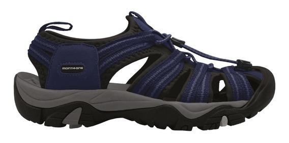 Sandalia Montagne Hombre Kates Goma Negro O Azul
