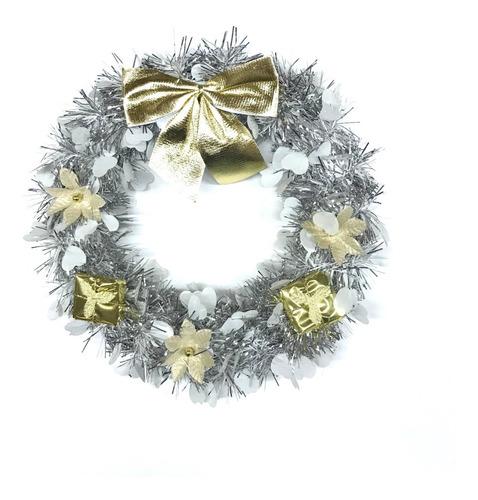 Corona Navidad 30 Cm Decorada #660