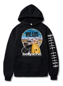 Blusa Moletom Billie Eilish Eyes Unissex Canguru Capuz