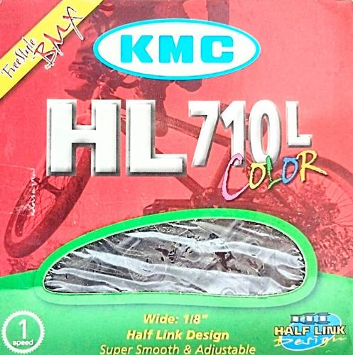 Cadena Kmc Hl710 L 1/2 1/8  100 Eslabones Color Negro