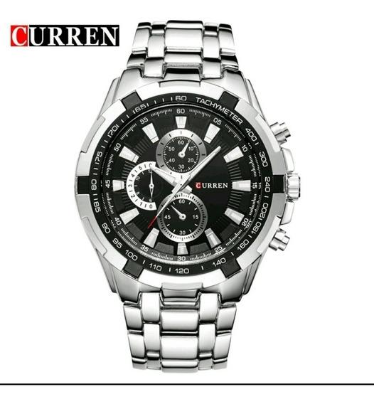 Relógio Curren 8023 Masculino Original Inox Barato
