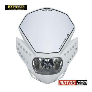 Mascara Faro Led Vision Acerbis Blanca Motoscba S