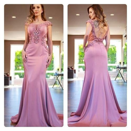 798da9864 De Formatura · Longos · Feminino · Vestido De Festa/madrinha/pedraria /rosê/rosa