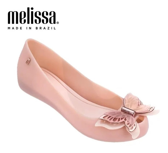 Zapatos Flats Mujer Melissa Mariposa 4 Colores 22.5 - 25 Cm