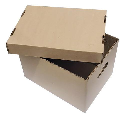 50 Cajas De Cartón X300 Con Tapa Para Archivo R.s