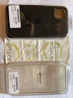 2 Capas Apple iPhone 11 Original:1 Transparente 1 Preta.