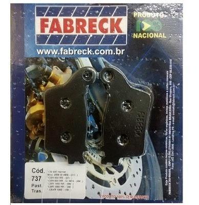 Pastilha Freio Traseira Hornet 09/12 S/abs Fabreck