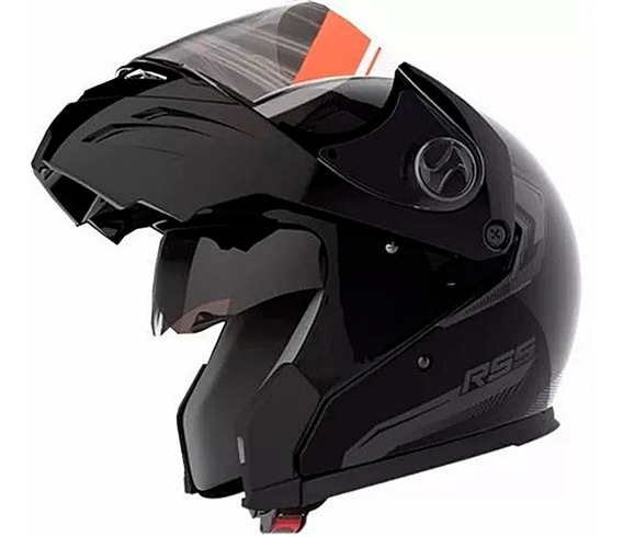 Casco Rebatible Rs5 Hawk Vector Doble Visor Envios Free Full