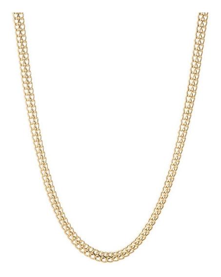 Corrente Gargantilha Lacraia 50cm Ouro 18k