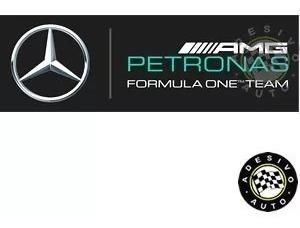 Adesivo Mercedes Amg Petronas Formula 1 Team F1 Preto