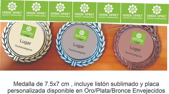 Medallas Deportiva Personalizada Listón Sublimado X10