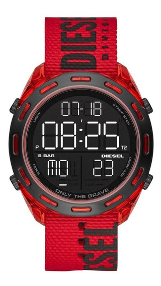 Relógio Masculino Diesel Digital Dz1916/8rn Vermelho Preto