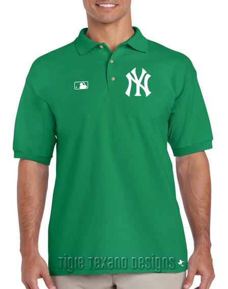 Playera Polo Yankees Nueva York Mod. 01 Tigre Texano Designs