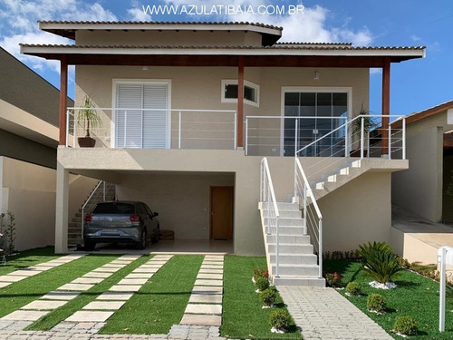 Imagem 1 de 30 de Casa Condomínio Terras De Atibaia,  Portaria, Rondas, Área De Lazer... - Ca01325 - 69454386