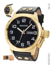 Relógio Magnum Dourado Masculino Ma32756u